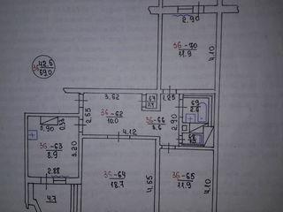 Se vinde apartament cu 3 odăi (69 m.p.)