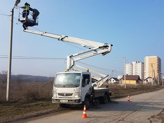 Autoturn  20m in Chisinau în Moldova автовышка  вышка  visca viska24. кран cran Manipuleator