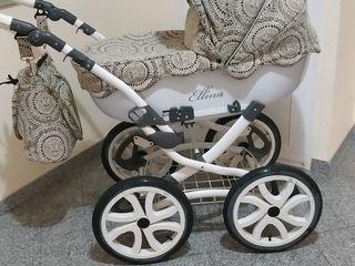 Вездеход! Шикарная колясочка Anmar Ellina Alu 2 в 1 весь материал шитьё!
