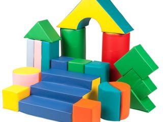 мягкий детский конструктор, мягкие игровые модули