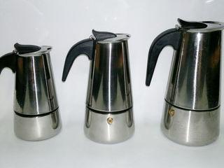 Новые гейзерные кофеварки на 2-4-6-9 порций=145лей
