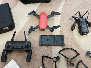 Drona / Дрон DJI Spark Lava Red (Combo) (new)