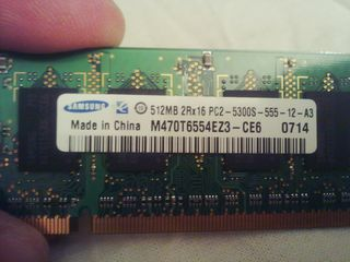 Notebook DDR 2 1GB+512mb