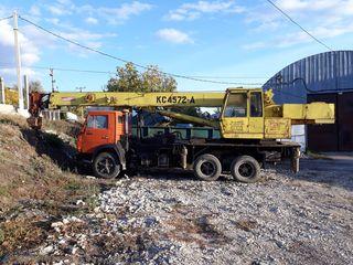 Servicii automacara 16tone, 22 metri în regiunea raionului Nisporeni.