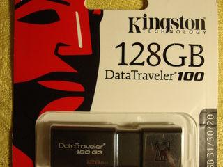 USB flash Kingston Data Traveler 128GB USB 3,0/3,1/2,0, NOU sigilat. Pret: 400 lei