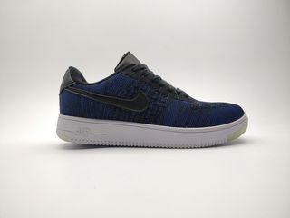 Nike air force flyknit dark blue
