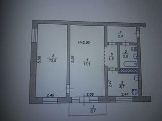 Продам 2х комнатную  квартиру, в центре г. Купчинь!!! район Единцы, отличное состояние, 2-й этаж!