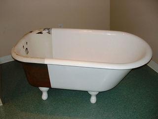 Реставрация ванн,методом налива.Материал наливной акрил