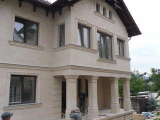 Отделка фасада декоративной штукатуркой, реконструкция. Отделка фасад камнем!