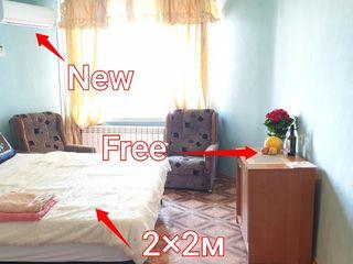 Apartament in centru de la 222 lei pina la 600 lei pe zi, depinde de termen.