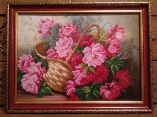 Новая картина вышитая бисером Цветы