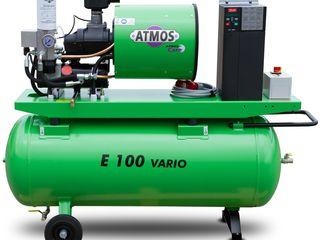 """Винтовой компрессор  с частотным преобразователем """"Атмоs"""" Е-100 Vario (Чехия)"""