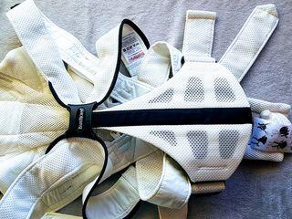 Эксклюзивный белый экземпляр!  Эрго-рюкзак BabyBjorn Miracle. б/у. 450 лей. Смотрите видео