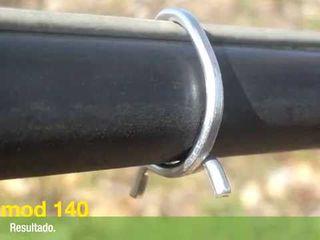 Agroforța-m   scoabe galvanizate pentru fixarea tubului de picurare (livada , vita de vie)