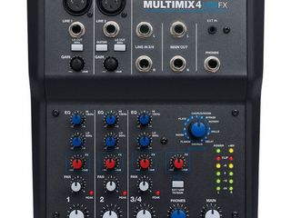 Mixer Alesis Multimix 4USB FX cu 4 canale si procesor de efecte.