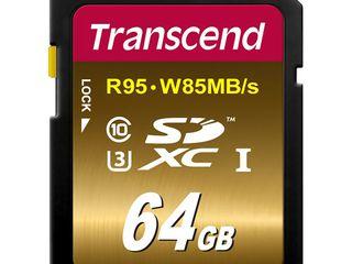 Карта памяти Transcend SDXC 64Gb Class 10 UHS-I (TS64GSDU3). Новая. Гарантия и доставка.