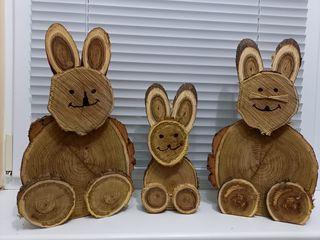 Vind iepuri din lemn