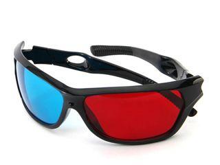 Vizionarea filmelor cu 3D ochelari anaglifici din plastic!