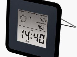 Настольный комнатный термометр с индикатором влажности воздуха 80 лей метеостанция с часами-200 лей