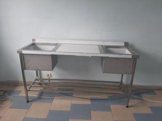 Mobilier din inox pentru bucatarii profesionale, prelucrare, procesare, preparare produse alimentare