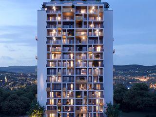 Priveliști uimitoare. Zorilor complex nou. Cluj. Romania.