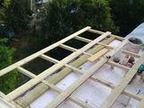 Ремонт крыша балкона из профнастила 548  +утепление крыши пенопласто!!!