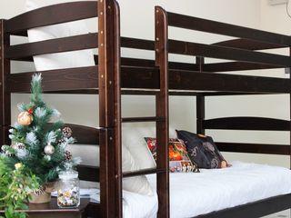 Ai spaţiu mic. Alege patul L-303 etajat din lemn!