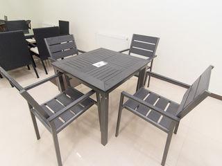 Set masa + 4 scaune terasa nou. -10% reducere centrul de mobila elegance