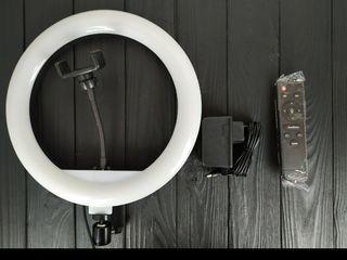 Kольцевая cвeтoдиoднaя лампа 30 см RING FILL LIGHT (НОВАЯ )+ ШTAТИB B КOMПЛEКТE
