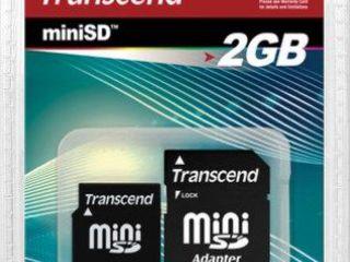 Transcend TS2GSDM miniSD 2GB Flash Memory Card Noua sigelata cu garantie