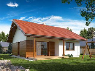 Современный дом c большой гостиной-кухней и двумя спальнями