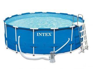 Бассейн 16800 л. 457х122см Intex Metal Frame Pool