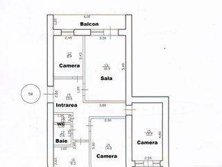 Apartament cu 4 camere de 85 m2