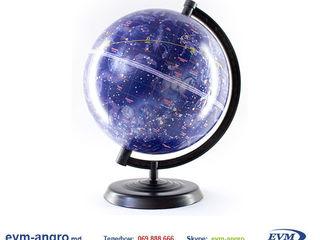 Глобус диаметром   22 см PVC звёздное небо на русском