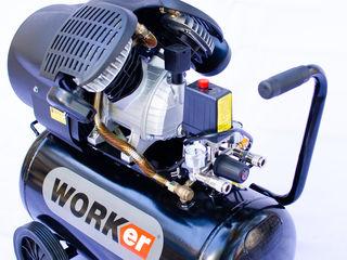 Worker mv 50 l 4250 MDL- compresor/ компрессор  motor cu doi cilindri v , 320lmin ! Garantie 3 Ani