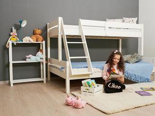 Patul perfect pentru spatiul mic din apartamentul tau, etajat din lemn natural 100%