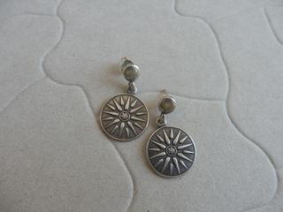 серебряные  серьги - 350лей