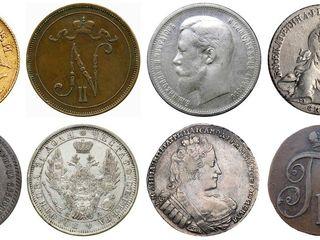 Купим монеты, медали, часы, сабли, статуэтки, антиквариат