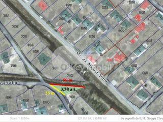 Lot de pământ, pentru construcții, 3.4 ari, Trușeni, 8500 €!