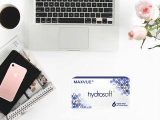 Контактные линзы гидрогельевые Hydrosoft и силикон-гидрогельевые AirSoft от MaxVue Vision