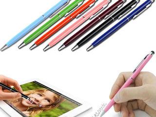 Стилус 2 в 1 с автоматической шариковой ручкой