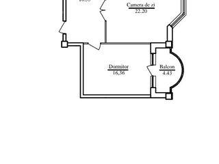 Apartament cu 2 odăi, 82 m