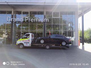 tractari auto pe platforma - remorcari automobile - asistenta rutiera nonstop, servicii tractari