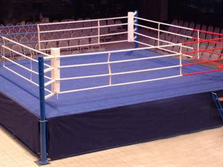 Боксёрский ринг, канаты, подушка, напольное покрытие, боксёрская груша, макивара, настенная подушка