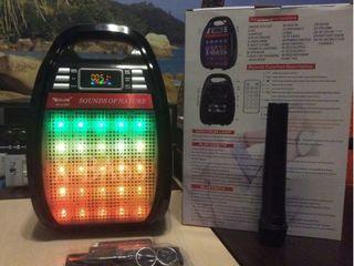 Портативная колонка. Bluetooth, радиомикрофон, пульт, цветомузыка. 1290 лей. Смотрите видео!
