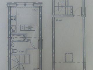 2 комн.квартира 2 ух уровневая,2 терассы, белый вариант