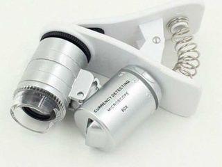 Gadjet neobisnuit, microscop cu marire de 60X pe telefon!
