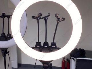 Кольцевая лампа ZB-F348 (45 см)пультом+3 Держателями+штатив/Lampa inelara 45cm+pulit+3xsuport+stativ