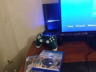PlayStation 4 1TB, 2 джойстика, 6 игр