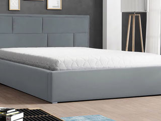 Двуспальная кровать с подъемным механизмом и бельевым ящиком!